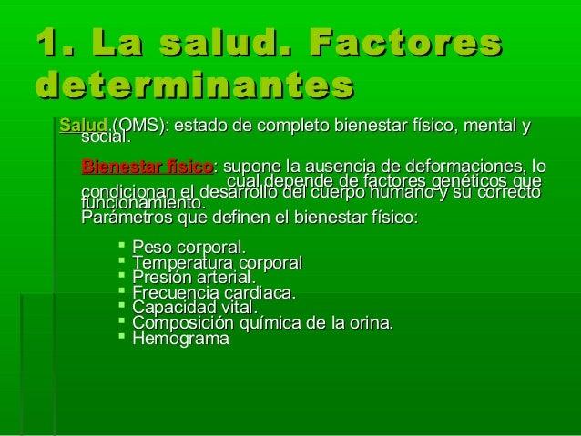 Determinantes de la salud Slide 3