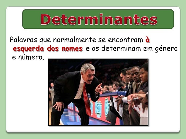 PowerPoint: Determinantes vs Pronomes (demonstrativos e possessivos)