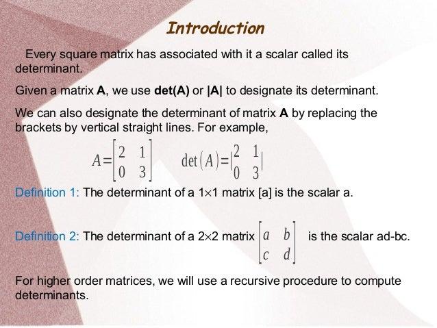 Determinants - Mathematics Slide 2
