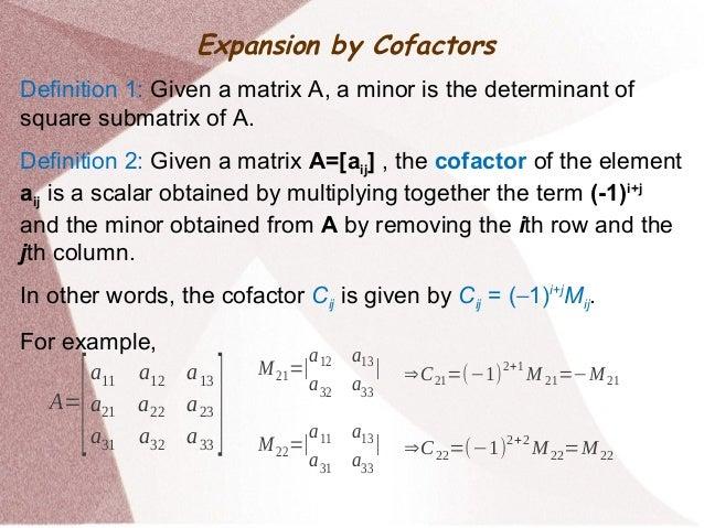 Determinants - Mathematics Slide 3