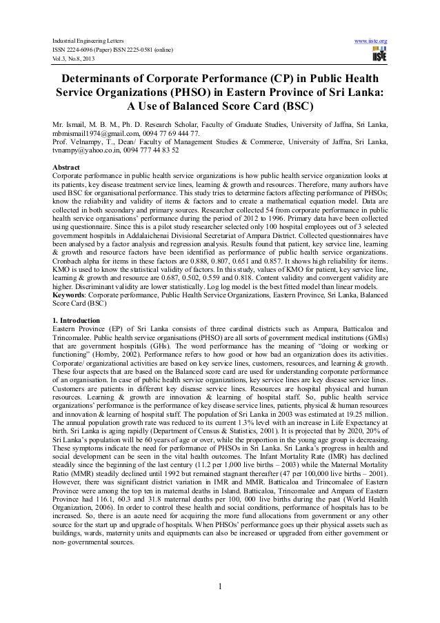 Industrial Engineering Letters www.iiste.org ISSN 2224-6096 (Paper) ISSN 2225-0581 (online) Vol.3, No.8, 2013 1 Determinan...