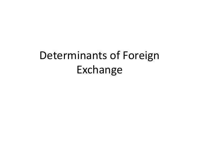 Determinants of Foreign Exchange