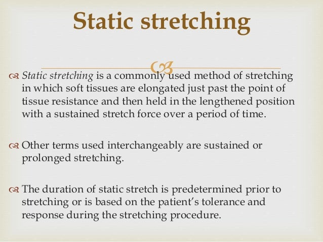 Determinants Of Stretching Interventions