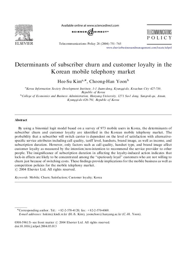 ARTICLE IN PRESS  Telecommunications Policy 28 (2004) 751–765 www.elsevierbusinessandmanagement.com/locate/telpol  Determi...