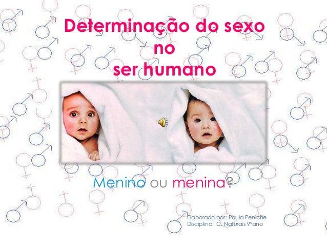 Determinação do sexo no ser humano  Menino ou menina? Elaborado por: Paula Peniche Disciplina: C. Naturais 9ºano