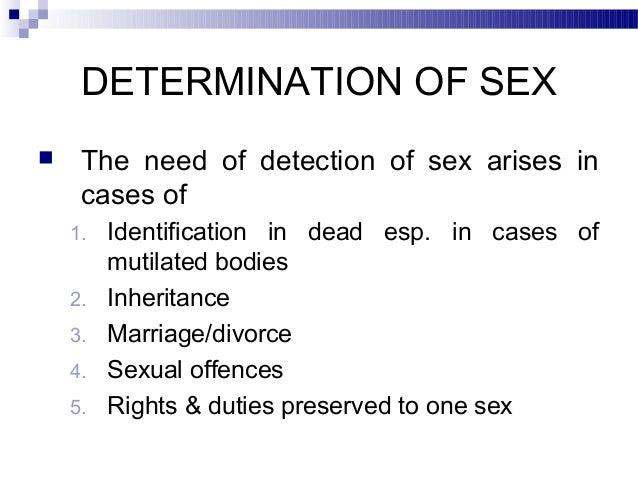 Determination Of Sex 94