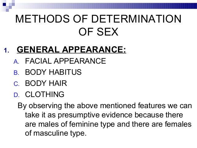Determination Of Sex 96