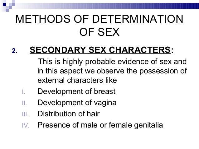 Determination Of Sex 99