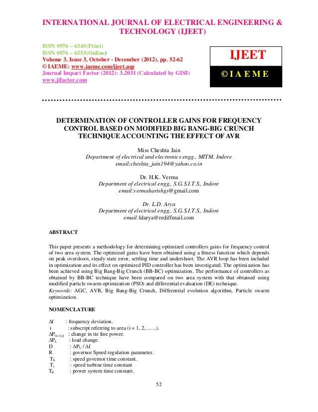 INTERNATIONAL JOURNAL and Technology (IJEET), ISSN 0976 – 6545(Print), ISSN &  International Journal of Electrical Enginee...