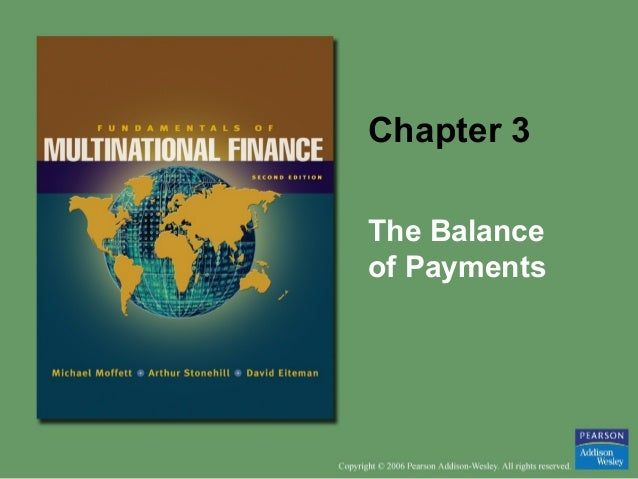 Chapter 3 The Balance of Payments