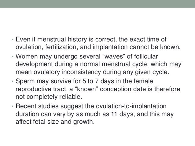 Can late implantation affect ultrasound dating