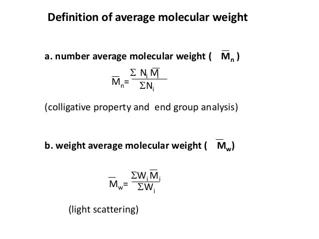 Determination of molecular weight of polymers by visometry