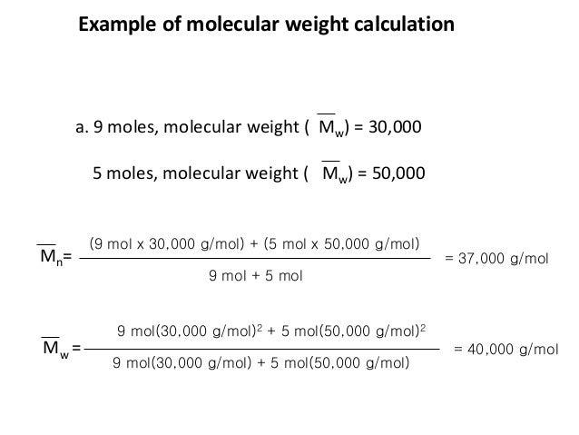 N Molecular Weight Determination of molec...