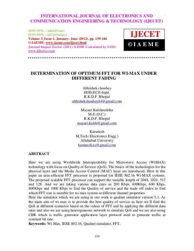 International Journal of Electronics and JOURNAL Engineering & Technology (IJECET), ISSN 0976          INTERNATIONAL Commu...