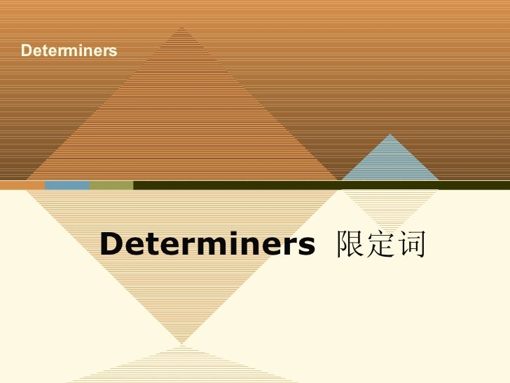 Determiners  限定词