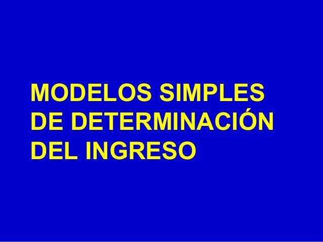 MODELOS SIMPLES DE DETERMINACIÓN DEL INGRESO