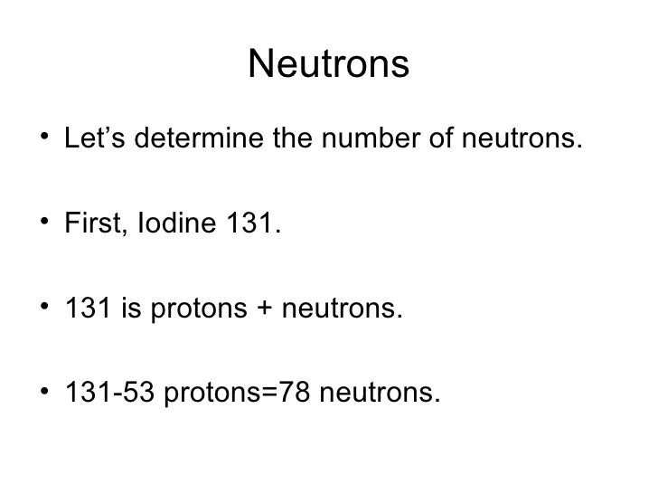 Determining An Isotope