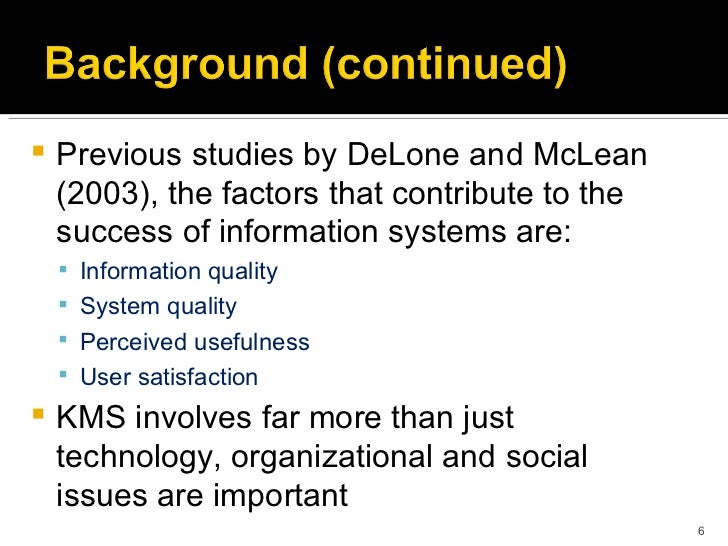 Factors that contribute to the success of health care management information system
