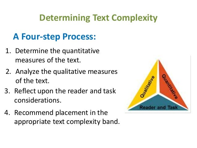 Determining text complexity 4 step process
