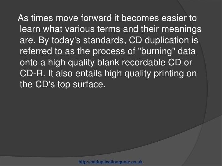 Determining the best cd duplication services Slide 2