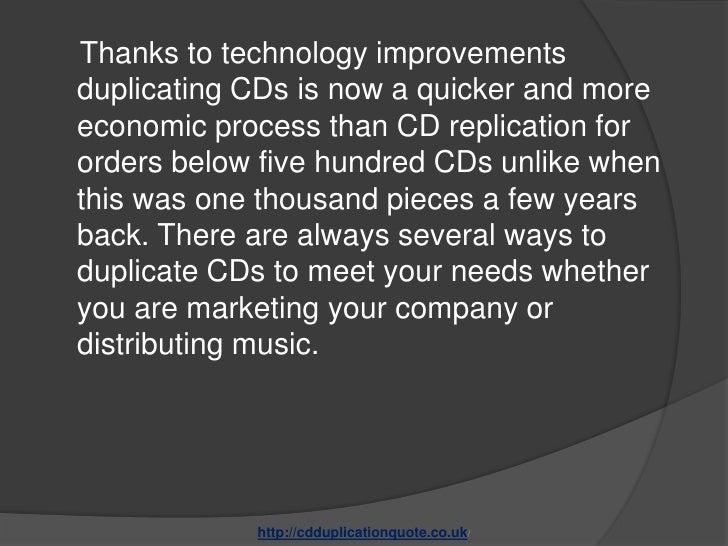 Determining the best cd duplication services Slide 3