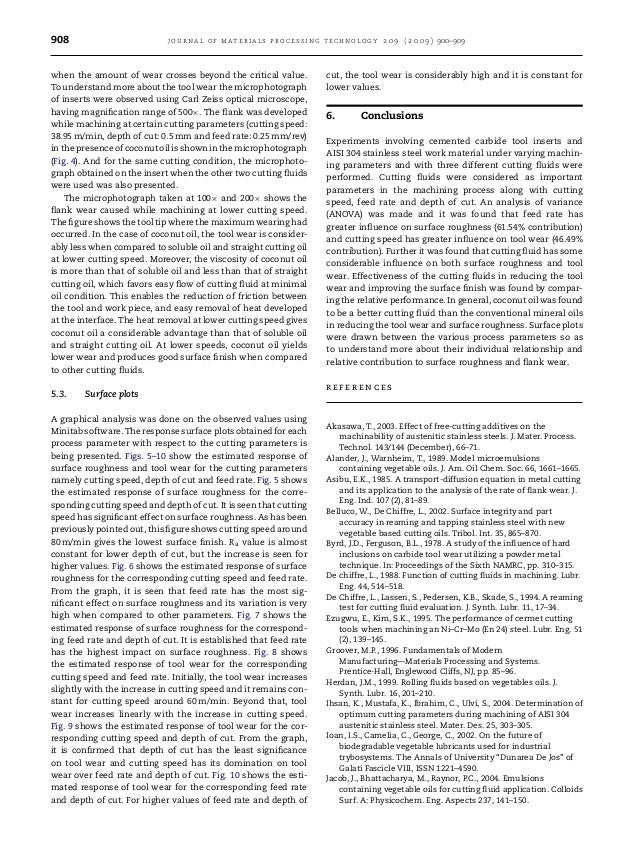 908 journal of materials processing technology 2 0 9 ( 2 0 0 9 ) 900–909 when the amount of wear crosses beyond the critic...
