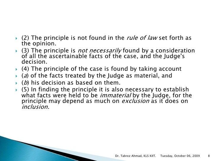 Definition of ratio decidendi