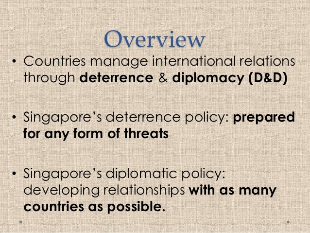 deterrence and diplomacy He received his master's degree from the fletcher school of law and diplomacy  in 2011 building a comprehensive strategy of cyber defense  deterrence.