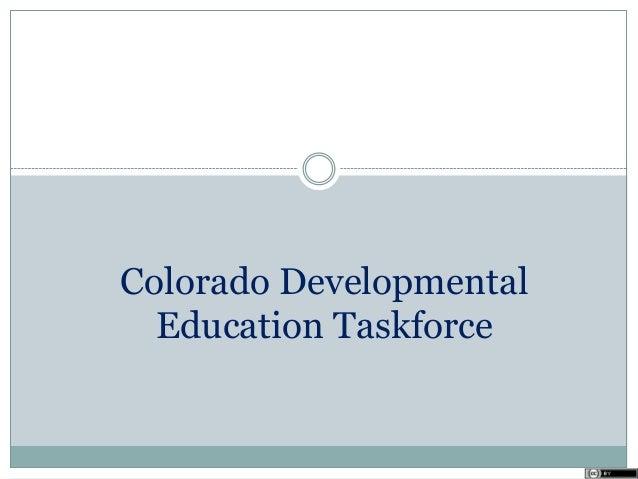 Colorado Developmental Education Taskforce