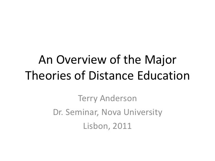 An Overview of the MajorTheories of Distance Education<br />Terry Anderson<br />Dr. Seminar, Nova University<br />Lisbon, ...