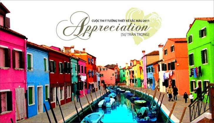 Cuoc thi y tuong sac mau 2011 APPRECIATION