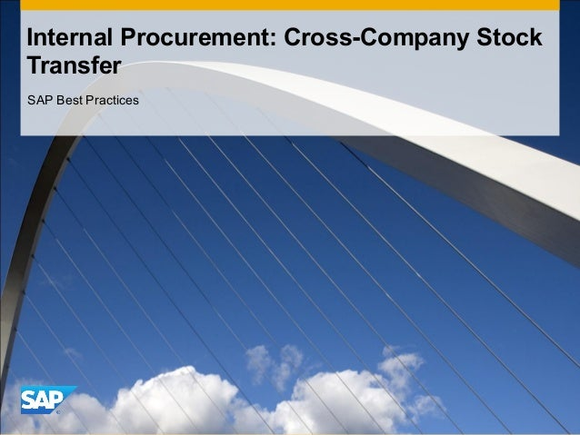 Detial process description inter company stock transfer