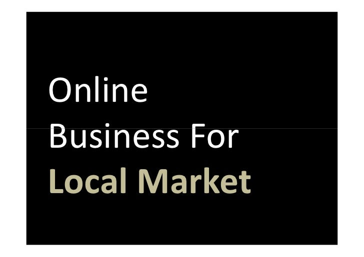 Online Business For Local Market