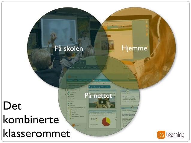 Hjemme  På skolen  Det kombinerte klasserommet  På nettet