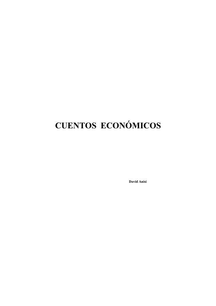 CUENTOS ECONÓMICOS            David Anisi