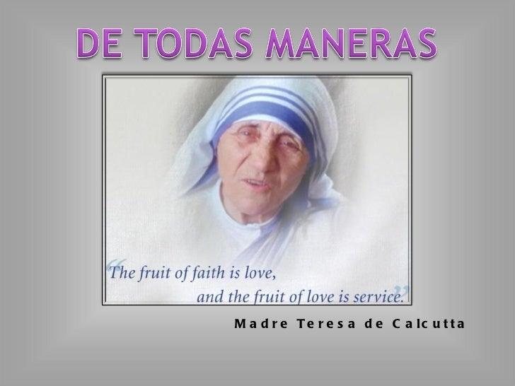 Madre Teresa de Calcutta