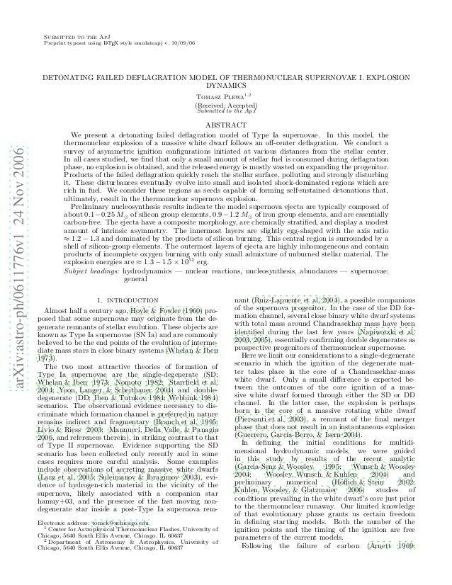 arXiv:astro-ph/0611776v124Nov2006 Submitted to the ApJ Preprint typeset using LATEX style emulateapj v. 10/09/06 DETONATIN...