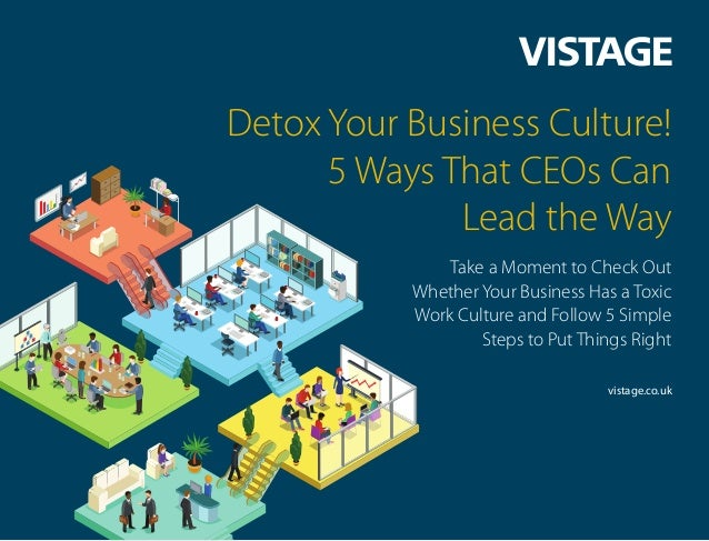 Detox Your Business Culture! 5 Ways That CEOs Can Lead the Way Take a Moment to Check Out Whether Your Business Has a Toxi...
