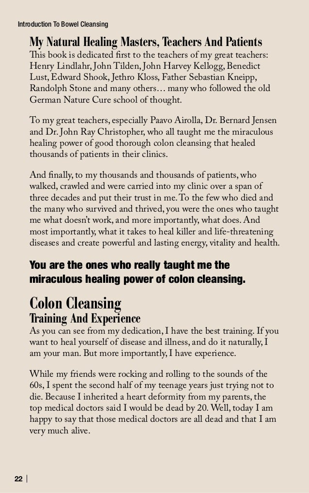 23 Introduction To Bowel Cleansing In my own personal healing journey, I experimented with bowel cleansing far beyond what...