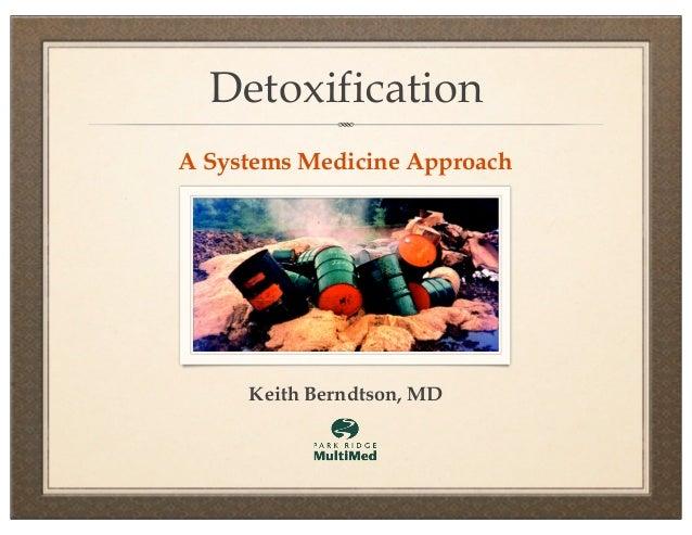 DetoxificationA Systems Medicine Approach     Keith Berndtson, MD