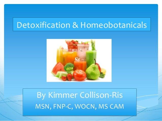 Detoxification & Homeobotanicals By Kimmer Collison-Ris MSN, FNP-C, WOCN, MS CAM