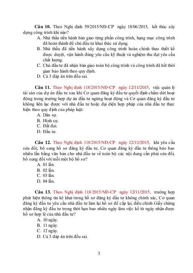 Đề thi công chức chuyên ngành kế hoạch đầu tư De trac nghiem so 19 Slide 3