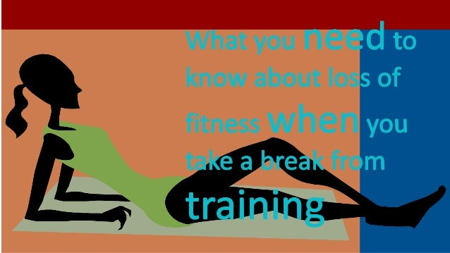 Wondering how much fitness you have lost…and