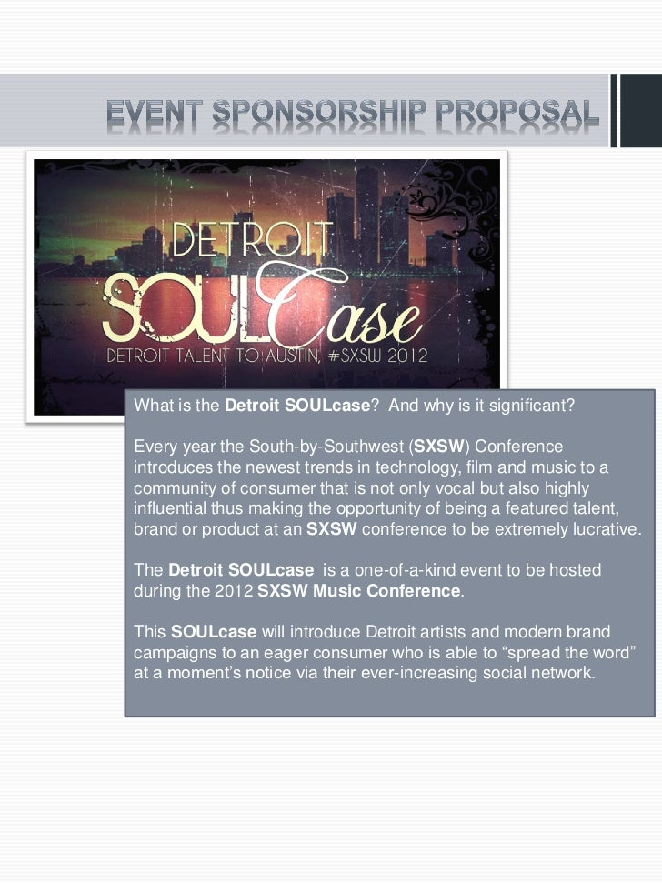 What is the Detroit SOULcase? And why is it significant?Every year the South-by-Southwest (SXSW) Conferenceintroduces the ...