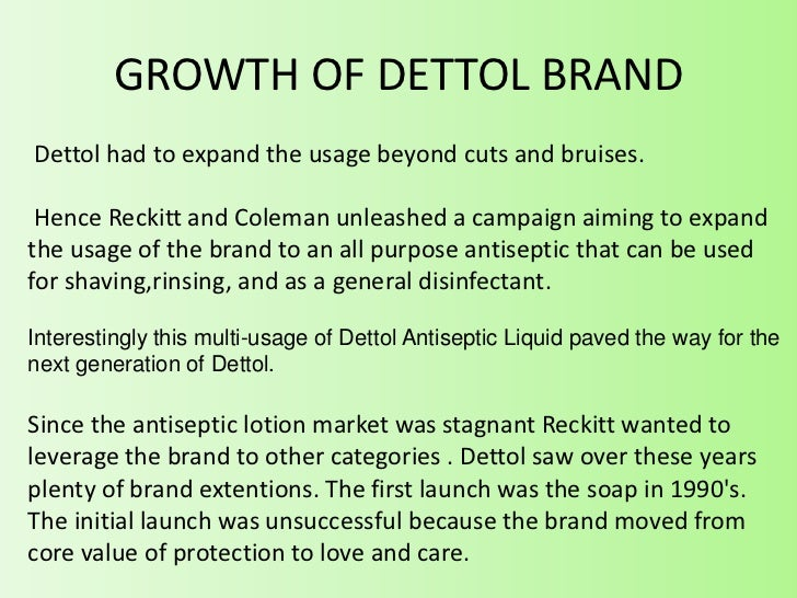 Dettol Brand Management