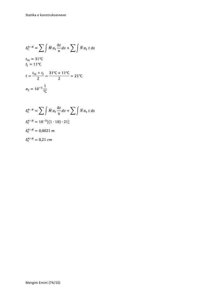 Statika e konstruksioneveMergim Emini (74/10)