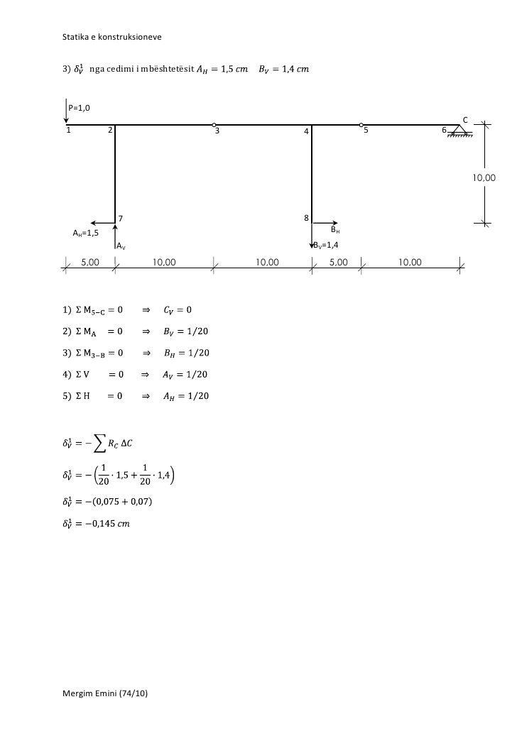 Statika e konstruksioneve3)      nga cedimi i mbështetësit P=1,0                                                          ...