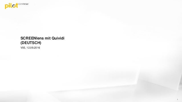 SCREENlens - People Tracking mit Quividi