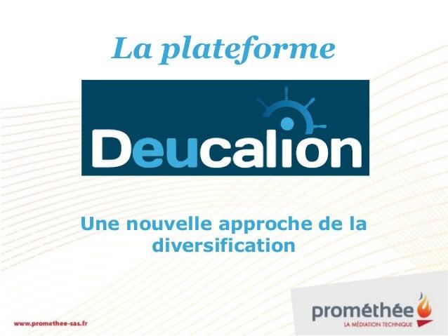 La plateforme Une nouvelle approche de la diversification