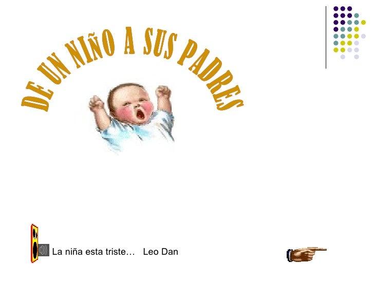 La niña esta triste… Leo Dan